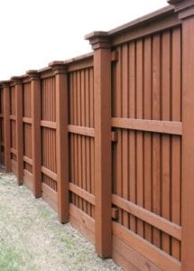 Closeup of a nice stained fence