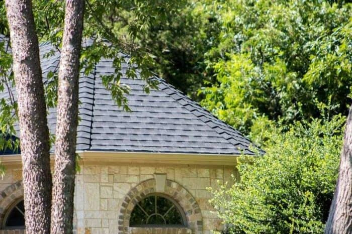 New roof on a stone house.
