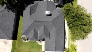 Aerial View Of A New Residential Roof On A Home